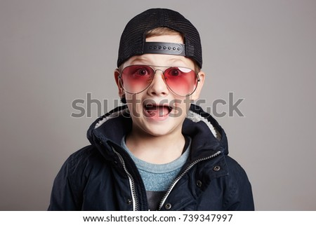 bdda9b9d8c7e Free photos Child in hat and glasses.fashionable little boy in ...