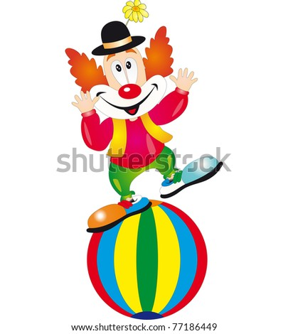 Funny clown. Illustration isolated on white background