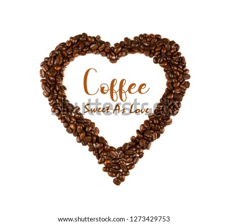 Inspirational quote with coffee beans and coffee cup background ... #coffeeBean