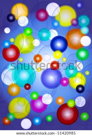 funny color bubbles background