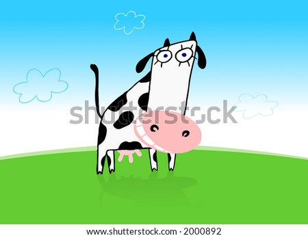 funny cows. stock photo : Funny cow