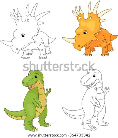 Cartoon Illustration Of Cute Wild Animals Set Ez Canvas