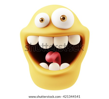 funny emoticon character face...