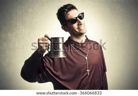 funny friar Foto stock ©