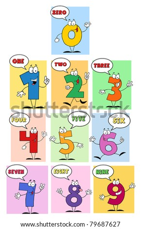 Funny Friendly Comics Numbers-Raster Collection