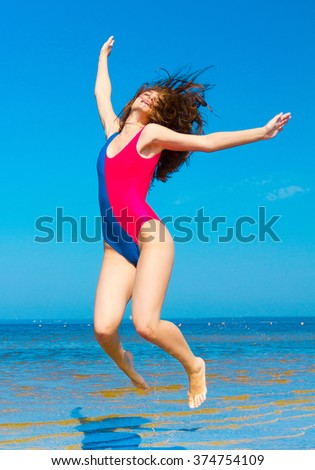Stock Photo Funny Girl Gone Wild