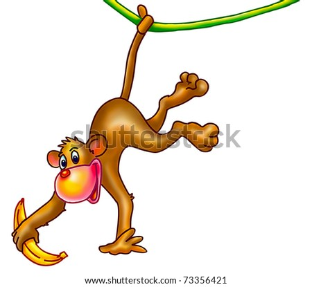Funny Monkey Stock Photo 73356421 : Shutterstock