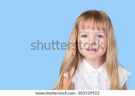 Funny pretty little blonde girl #303529922