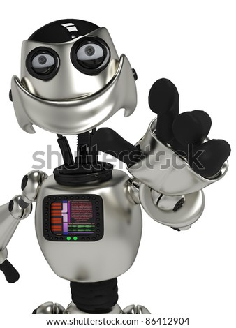 funny robot in I got you