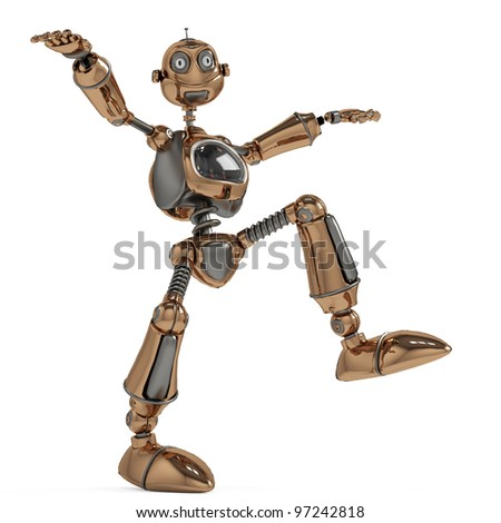 funny robot in the acrobat