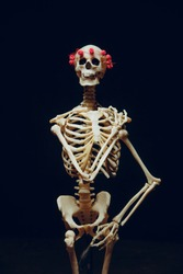 funny skeleton stand