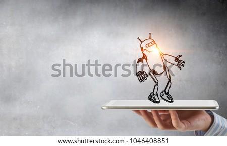 Funny sketched robot #1046408851