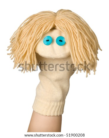 Funny sock puppet