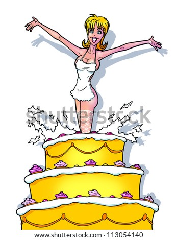 funny strip girl from cake