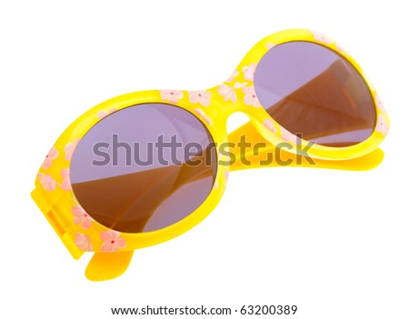 Funny sunglasses isolated on white background