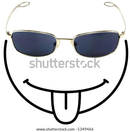 funny happy face pictures. smiley face composed of a
