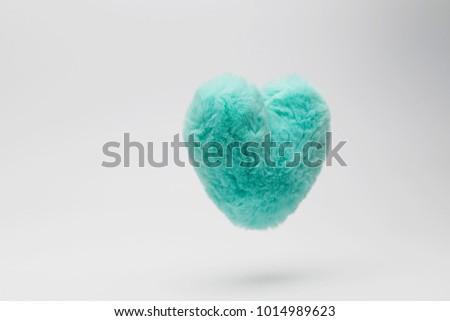 Fur floating heart #1014989623