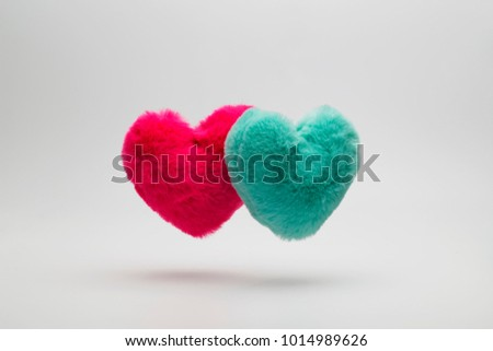 Fur floating heart #1014989626