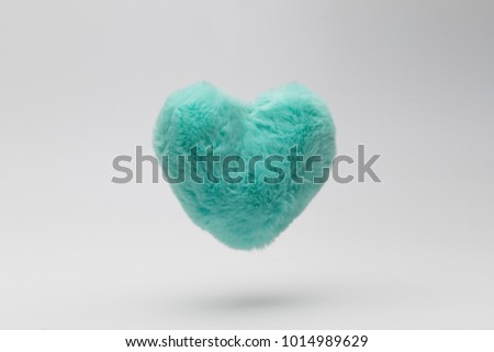 Fur floating heart #1014989629