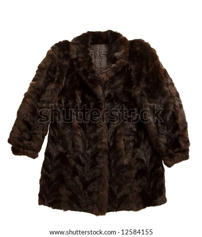 fur jacket isolated on white background