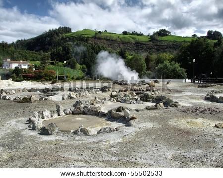 Furnas fumaroles in S. Miguel island, Azores