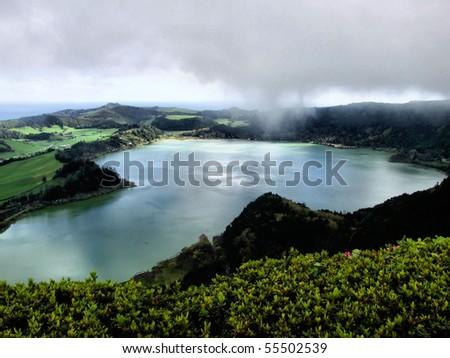 Furnas lagoon in S. Miguel island, Azores