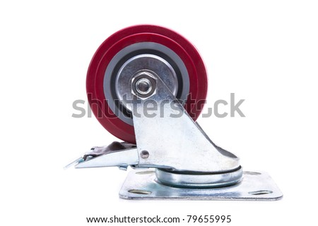 Furniture Castor WHeel - stock photo