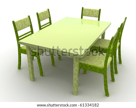 Furniture. Chairs and a table