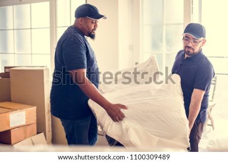 Furniture delivery service concept #1100309489