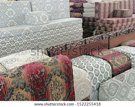 Furniture different designs of furniture at furniture shop.