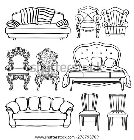 Furniture Chair Armchair Throne Sofa Stock Photo 273119591