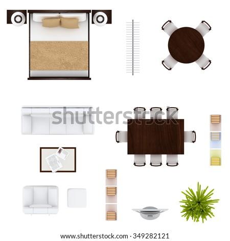 Furniture Top View Stock Photo 349282121 Shutterstock