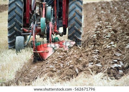 furrows of a plough from a ploughing competition in ireland