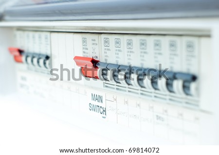 fusebox, with red button in focus