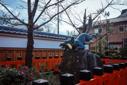 Fushimi Inari God Statue in Kyoto, Japan