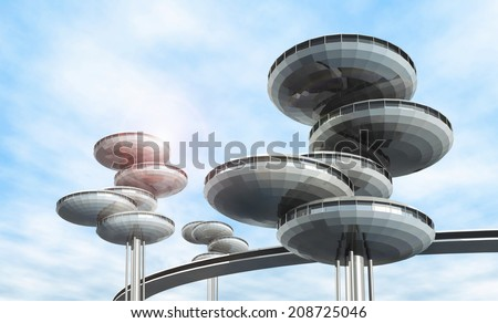 future architecture. modern...