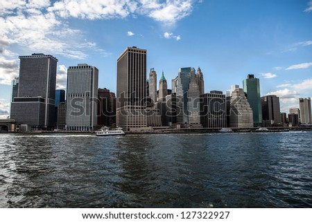 Future city - new york skyline