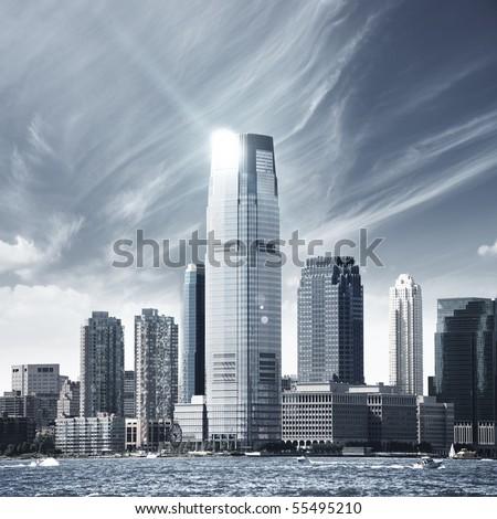 Future city - new york skyline #55495210