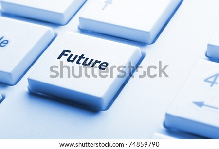 future key on keyboard showing time concept