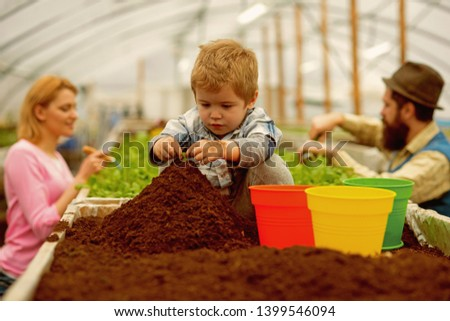 future life. future life growing. future life concept. future life of little boy farmer