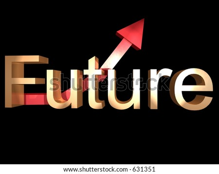 Future sign whit arrow pointing up