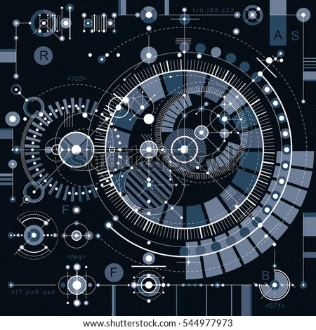 Future Technology Drawing Industrial Wallpaper Graphic Illustration Of Engine Or Mechanism