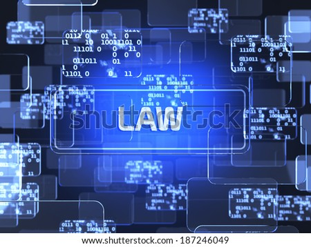 Future technology touchscreen interface. Law screen concept