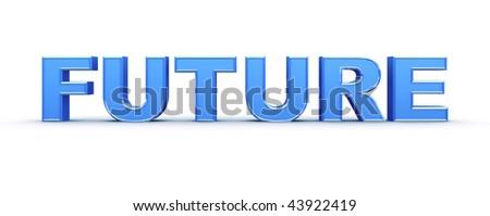 Future word sign - stock photo