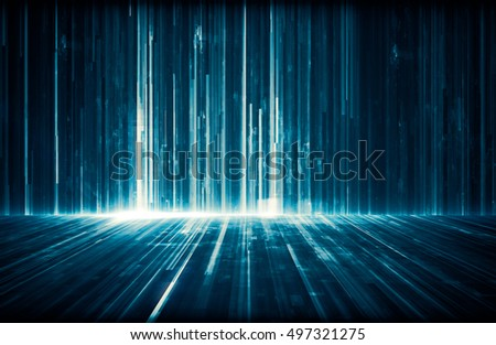 Futuristic abstract digital science technology concept background. 3d Illustration