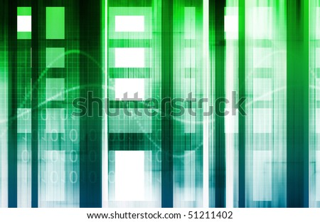 Futuristic Background as a Network Concept Art