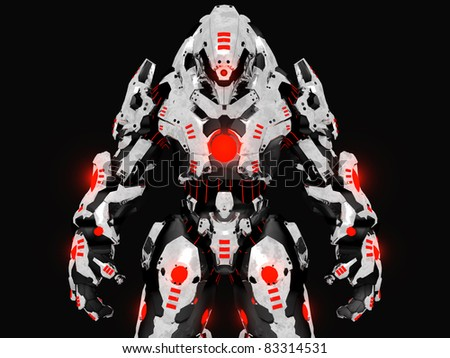 Stock Photo Futuristic battle robot