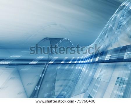 Futuristic blue background element