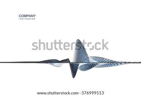 Futuristic building construction. Background for brochure or business card
