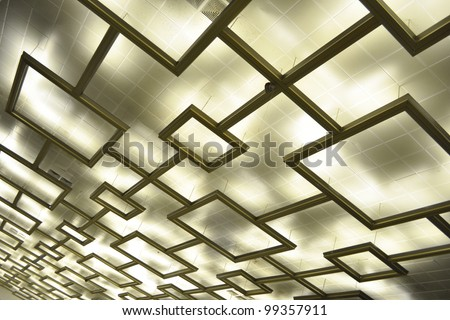 Futuristic Ceiling Illumination Background Pattern Stock Photo ...